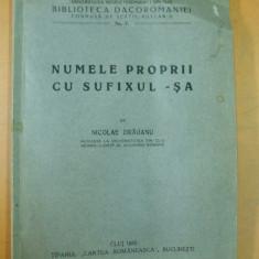 Numele proprii cu sufixul sa Cluj 1933 N. Draganu - Carte veche
