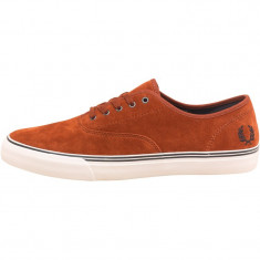 Tenesi Fred Perry Mens Clarence Suede Trainers Dark Cinnamon marimea 41 - Tenisi barbati, Culoare: Din imagine