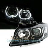 Faruri BMW seria 3 E90 E91 cu Angel Eyes F30 design, 3 (E90) - [2005 - 2013]