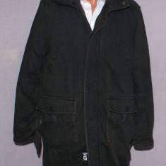 Geaca lunga / palton barbati G STAR Raw marimea M / L gri worn in - uzata gstar, Bumbac
