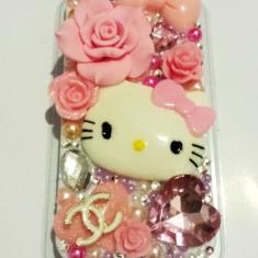Husa Hello Kitty Iphone 5 handmade. MODEL UNIC. - Husa Telefon Apple, iPhone 5/5S/SE, Roz, Plastic, Carcasa
