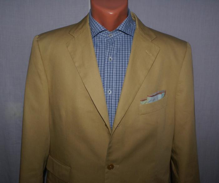 Costum barbati din bumbac PURO COTONE marimea 50 culoarea camel foto mare