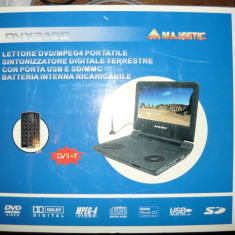Dvd(leptop)nou 10 inch, cu tv, intrare card si usb - DVD Player Portabil