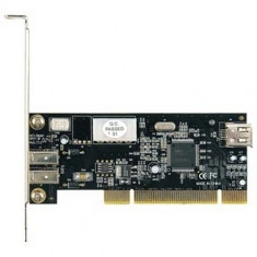 Placa PCI Controler Card Firewire IEEE 1394 - Cititor carduri Sweex