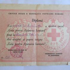 DIPLOMA CRUCEA ROSIE A R.P.R.