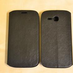 Husa HUAWEI Ascend Y600 Flip Case Slim Black - Husa Telefon, Negru, Piele, Cu clapeta