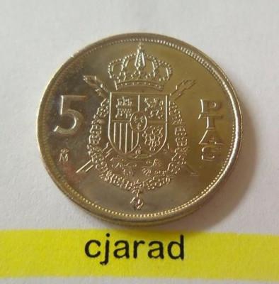 Moneda 5 PESETAS - SPANIA, anul 1989 *cod 1397 foto