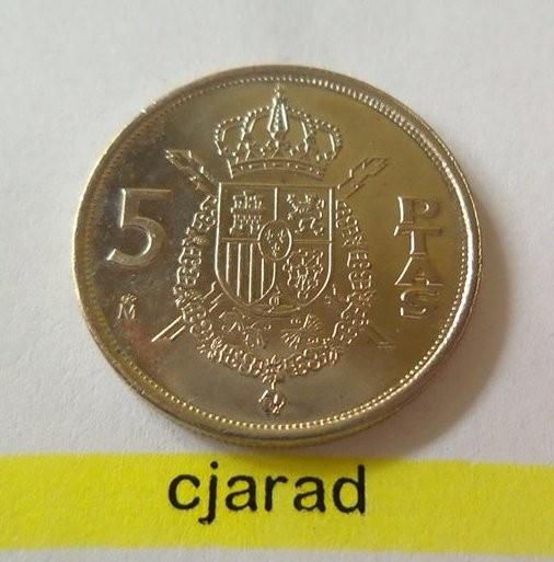 Moneda 5 PESETAS - SPANIA, anul 1989 *cod 1397