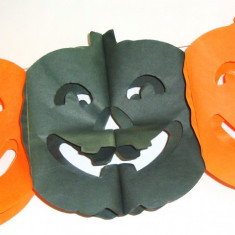 Ghirlanda hartie decor Halloween petreceri - model dovleac
