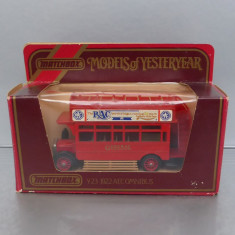 Autobuz londonez AEC Omnibus 1922, Matchbox Yesteryear - Macheta auto