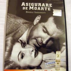 ASIGURARE DE MOARTE (DOUBLE INDEMNITY) [1944] (ORIGINAL, IMPECABIL, CU ROMÂNĂ) - Film thriller, DVD, Romana