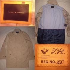Pardesiu TOMMY HILFIGER (M) barbati casual trench geaca jacheta palton autentic - Palton barbati, Marime: M, Culoare: Din imagine
