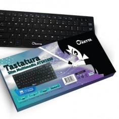 Mini tastatura multimedia (slim) USB, Cu fir