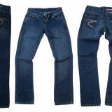 Blugi dama - drepti - FARMS BSK02 W 27, 28, 29, 30 (Art.299-304), Culoare: Albastru, Lungi, Normala