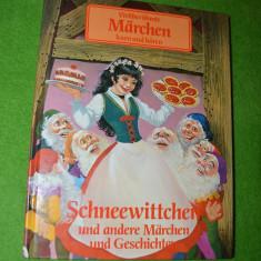 Carte de povesti pentru copii, in limba germana, Alba ca Zapada si alte povesti