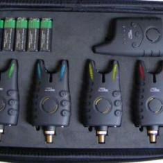 Set 4 Senzori FL avertizori + Statie cu Indicare 8 Nivele model 2015 - Avertizor pescuit, Hanger