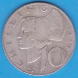 (2) MONEDA DIN ARGINT AUSTRIA - 10 SCHILLING 1957, 7, 5 GRAME, Europa