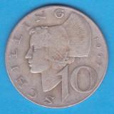 (3) MONEDA DIN ARGINT AUSTRIA - 10 SCHILLING 1957, 7, 5 GRAME, Europa