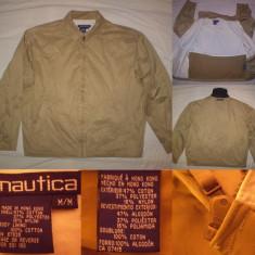 Geaca NAUTICA (M / L) barbati casual jacheta MADE IN HONG KONG autentica - Geaca barbati, Marime: L, Culoare: Din imagine