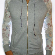 Hanorac Zara Man cu gluga - hanorac slim hanorac fashion hanorac barbat cod 141 - Hanorac barbati, Marime: XL, Culoare: Gri