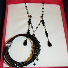 Set cadou bijuterii finute negre - Set bijuterii handmade si fashion Meli Melo