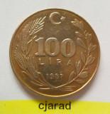 Moneda 100 Lire - Turcia 1987 *cod 1427, Europa