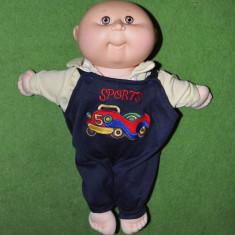 Papusa veche, vintage, Cabbage Patch Kids orginal, cu semnatura, 34 cm, Hasbro