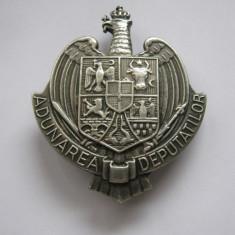 Insigna regalista de Deputat, Adunarea Deputatilor - Varianta Mare . Rara ., Romania 1900 - 1950
