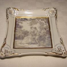 Impresionanta piesa decorativa din portelan, semnata Johann Haviland Bavaria, Decorative