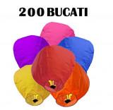 Set 200 Lampioane zburatoare colorate sky lanterns . Oferta Promotionala !
