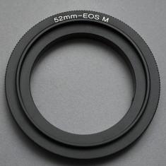 Canon EOS M - 52mm Inel inversor macro