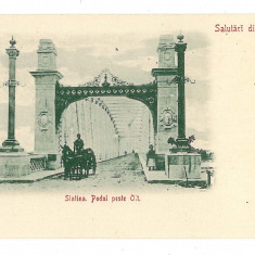2299 - Litho, Olt, SLATINA, Bridge and cart - old postcard - unused
