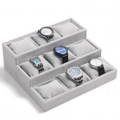 Tava depozitare ceasuri cutie organizare ceasuri 9 spatii supraetajata - Cutie Ceas
