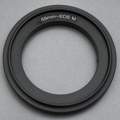 Canon EOS M - 55mm Inel adaptor inversor macro - Inel inversor obiectiv foto
