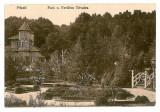 2718 - Arges PITESTI, Park Trivele - old postcard, CENSOR - used - 1918, Circulata, Printata