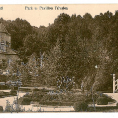 2718 - Arges PITESTI, Park Trivele - old postcard, CENSOR - used - 1918 - Carte Postala Muntenia 1904-1918, Circulata, Printata
