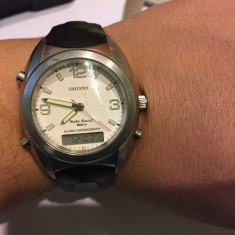 Ceas de mana Orient GQ01-CO CA dual time - Ceas barbatesc
