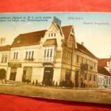 Ilustrata- Alba Iulia - Banca Poporala ,cca 1921