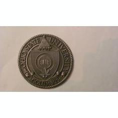 MMM - Medalie SUA / USA Universitatea Ohio Columbus unifata metal alb