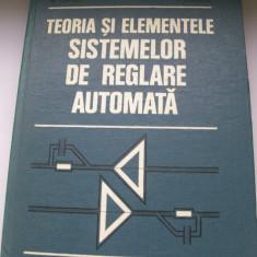 TEORIA SI ELEMENTELE SISTEMELOR DE REGLARE AUTOMATA D.MIHOC - Carti Mecanica