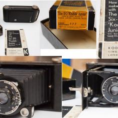 Aparat foto Six-20 Kodak Junior de Luxe - Aparat Foto cu Film Kodak, SLR, Mediu