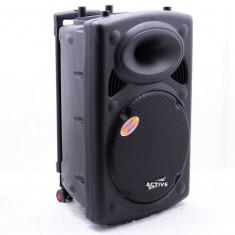 BOXA ACTIVA,MIXER,STATIE INCLUSA,MP3 PLAYER,300 WATT P.M.P.O,2 MICROFOANE WIR.