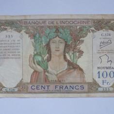 INDOCHINA FRANCEZA-NOUA CALEDONIA 100 FRANCS 1963 F+++