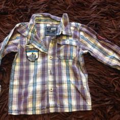 Camasa, camasuta pentru baieti, 1-2 ani, Name it, mov in carouri, 80-86 cm, Culoare: Verde