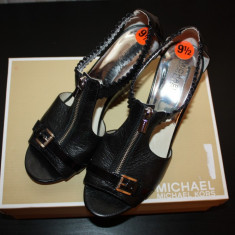 Sandale talpa ortopedica MICHAEL KORS sua - Sandale dama Michael Kors, Culoare: Negru, Marime: 40, Piele naturala