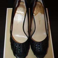 Pantofi sandale piele COLE HAAN - SUA - Sandale dama Cole Haan, Culoare: Negru, Marime: 39, 40, Piele naturala