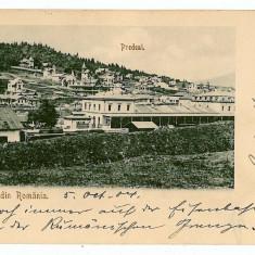 455 - Litho, Brasov, PREDEAL, Railway Station - old postcard - used - 1904 - Carte Postala Muntenia pana la 1904, Circulata, Printata