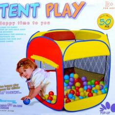 Cort de joaca cu 50 de bile colorate incluse 119/89/61 - Casuta/Cort copii