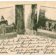 2216 - Litho, Banat, BUZIAS - old postcard -used - 1900 - Carte Postala Banat pana la 1904, Circulata, Printata