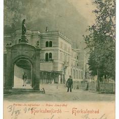 3213 - L i t h o, Banat, Baile HERCULANE - old postcard - used - 1900 - Carte Postala Banat pana la 1904, Circulata, Printata